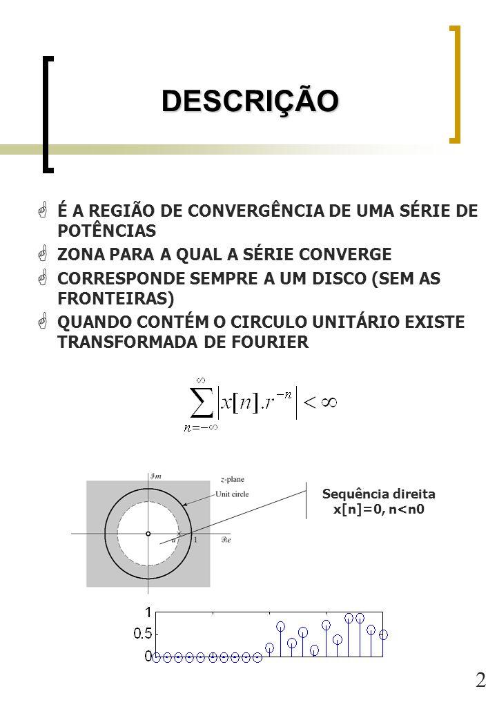 Sequência direita x[n]=0, n<n0